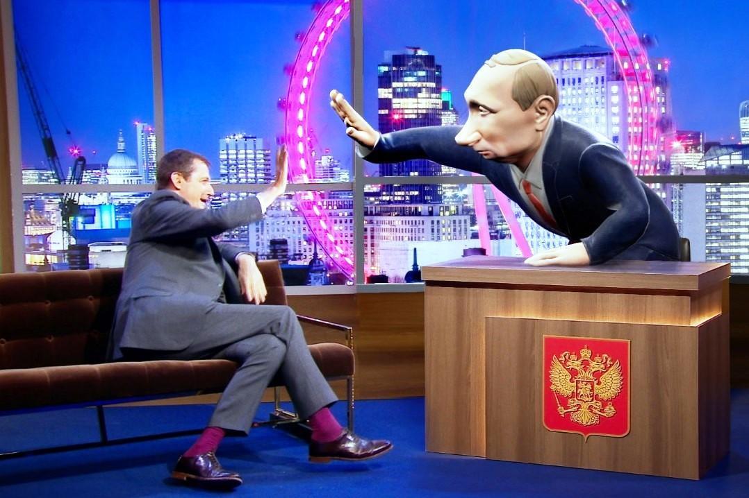 نمایش عروسک پوتین در بی بی سی صدای کرملین را درآورد